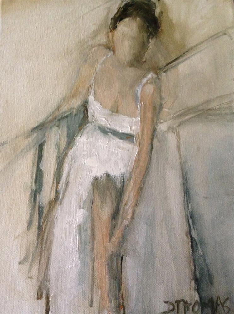 """Woman with Slipper"" original fine art by Donna Thomas"
