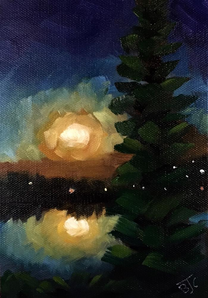 """Harvest Moon"" original fine art by Bobbie Cook"
