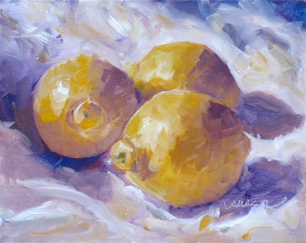 """Lemon Still Life Demonstration Paintnig"" original fine art by Susan Elizabeth Jones"
