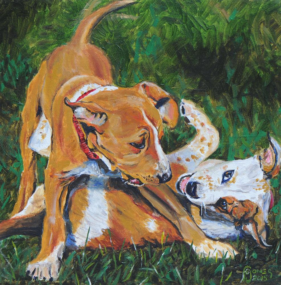 """Brotherly Love"" original fine art by Fred Jones"