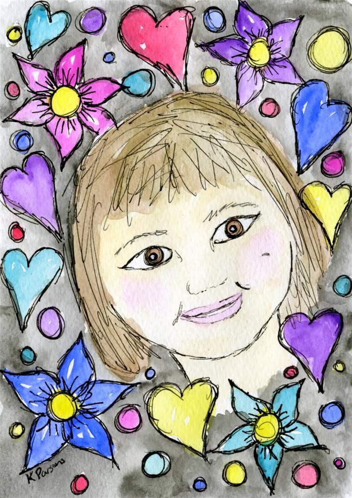 """""""Dimple"""" original fine art by Kali Parsons"""