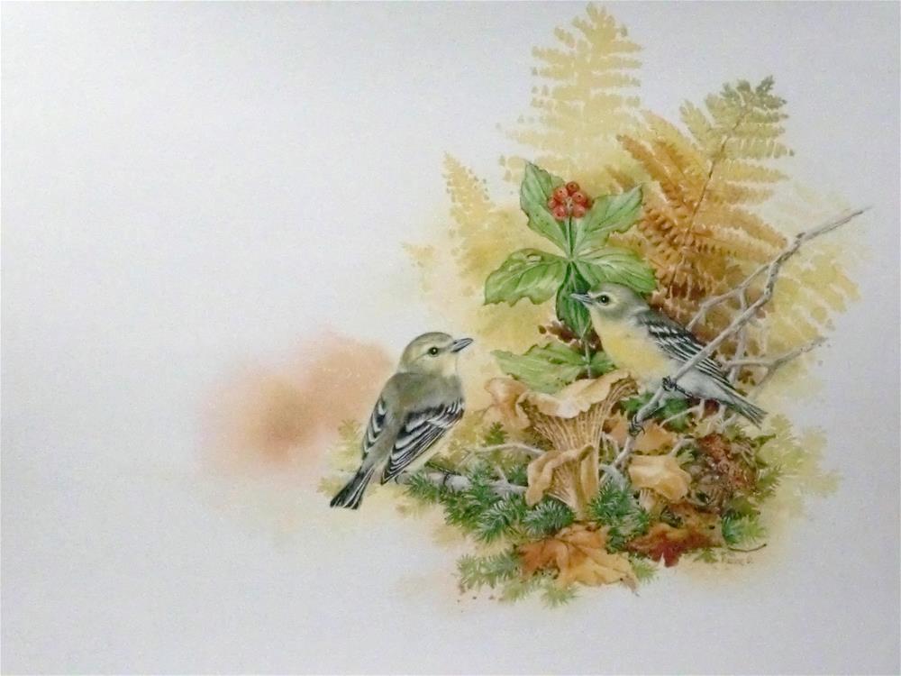 """Yellow Breasted Vireos"" original fine art by Jean Pierre DeBernay"