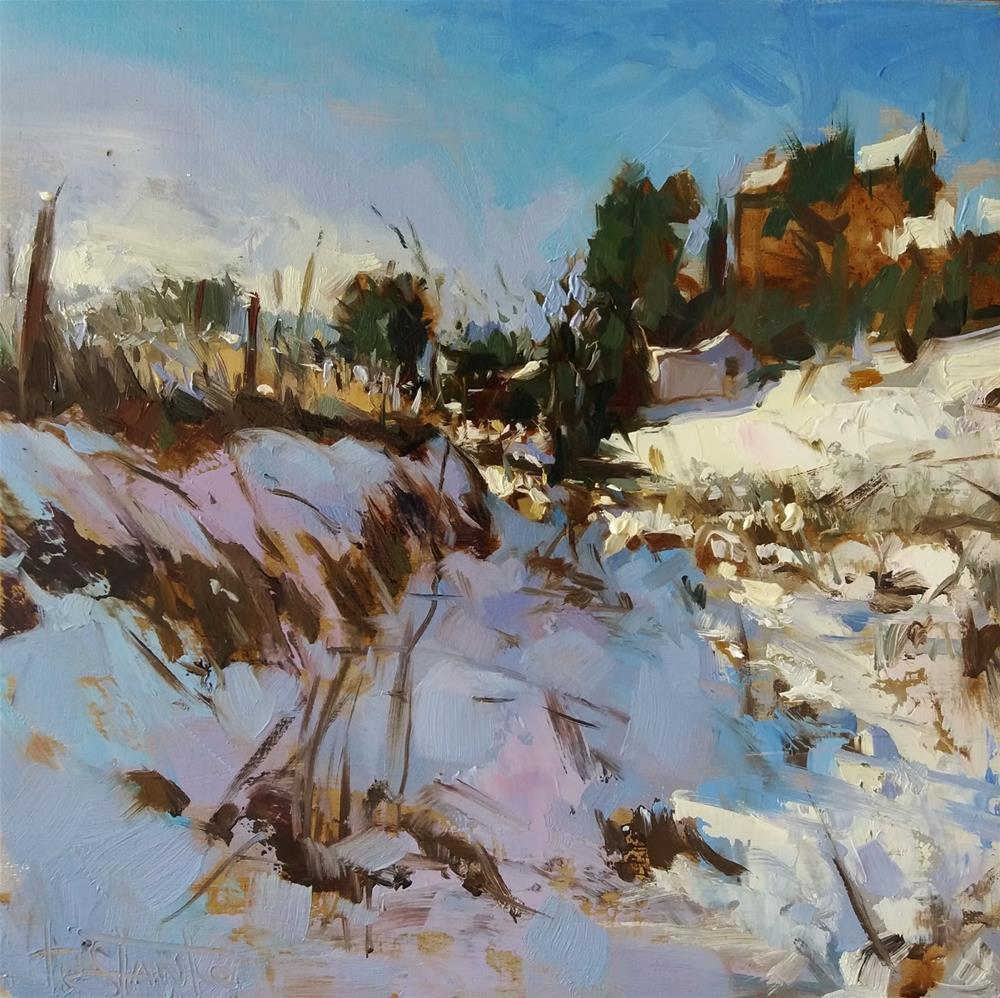 """Ronda under the snow"" original fine art by Víctor Tristante"