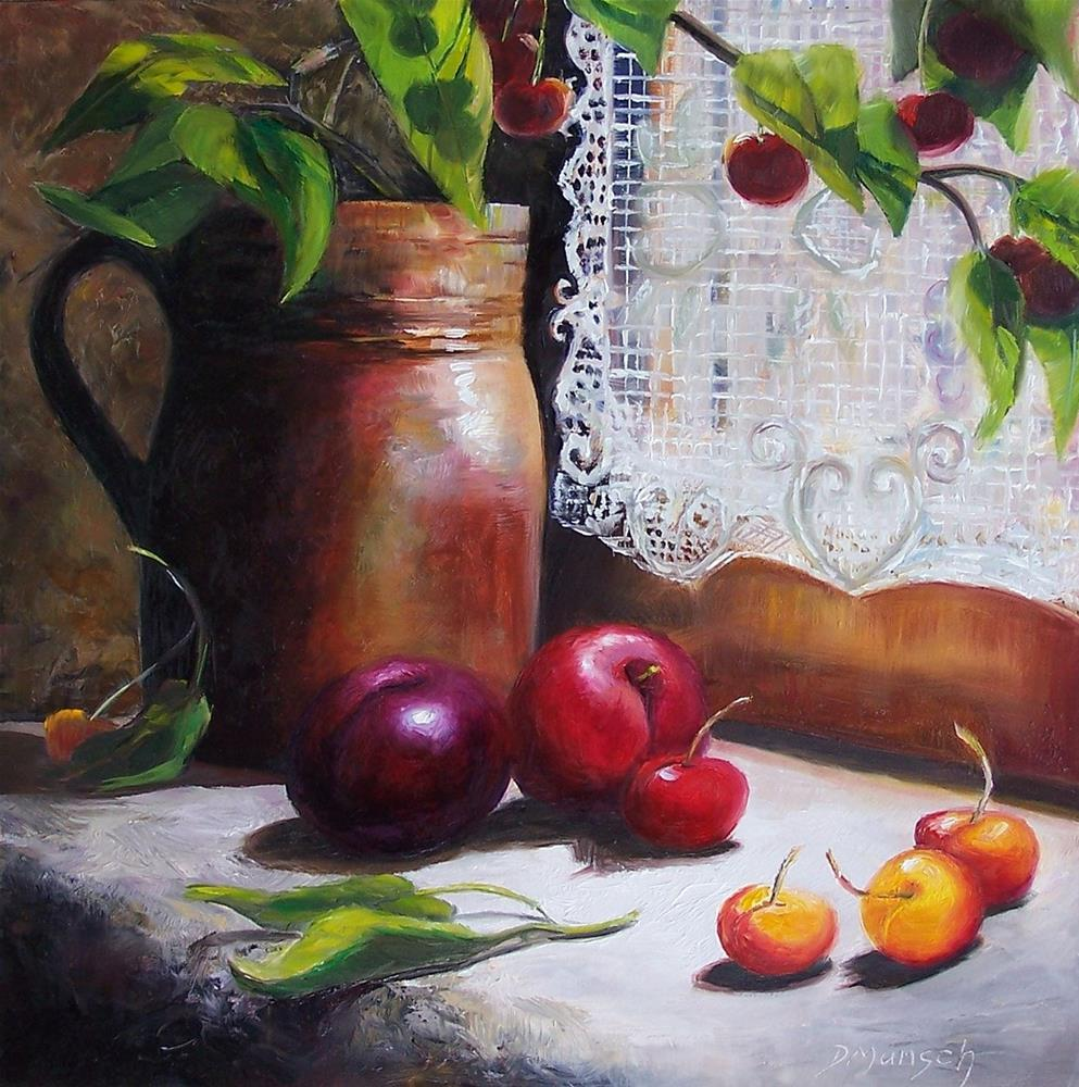 """Still Life by Window"" original fine art by Donna Munsch"
