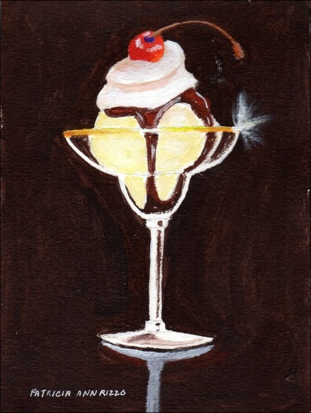 """""""Hot Fudge Sundae"""" original fine art by Patricia Ann Rizzo"""