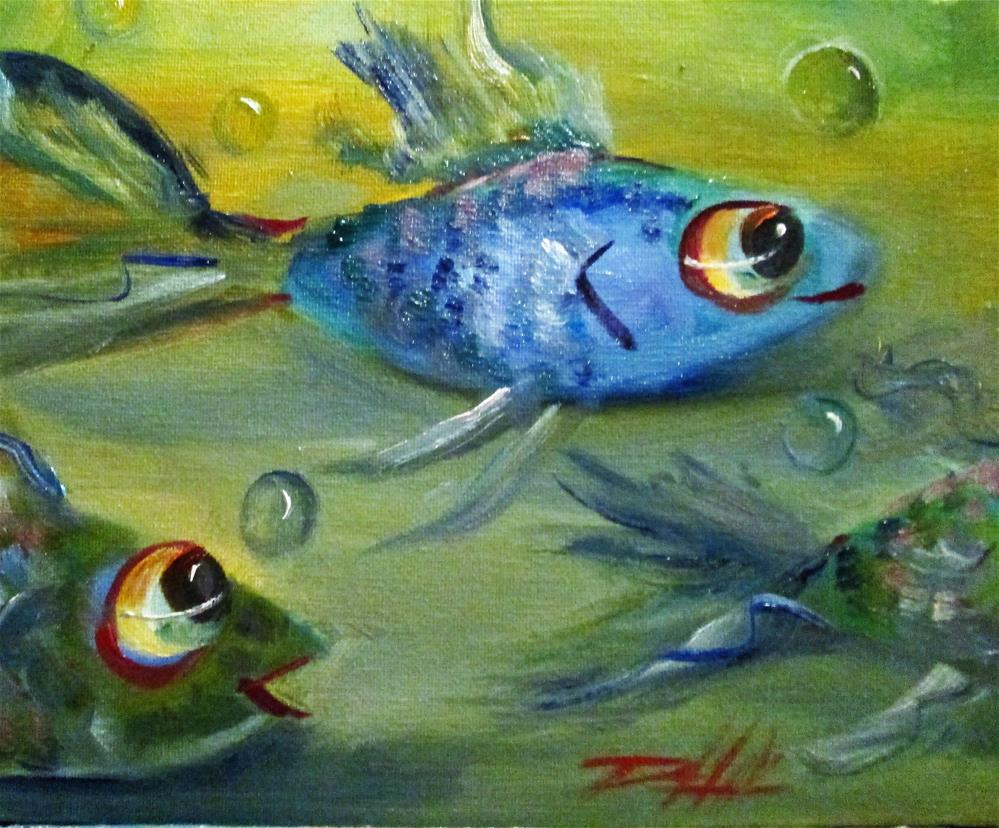 """Blue Fish"" original fine art by Delilah Smith"