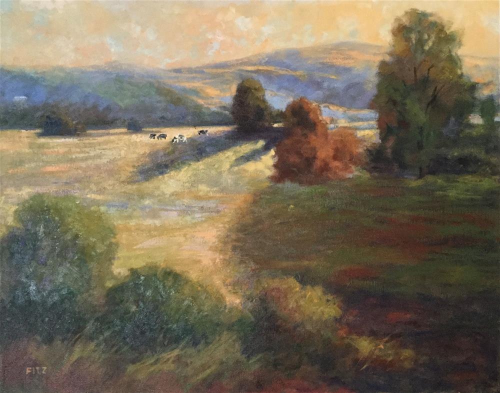 """""""Holsteins"""" original fine art by Charlotte Fitzgerald"""