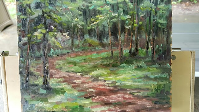 """Walk in the Woods"" original fine art by Tammie Dickerson"