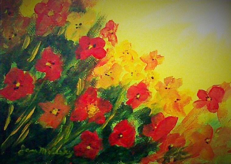 """""""Wildflower Fields"""" original fine art by Jan Molesky"""