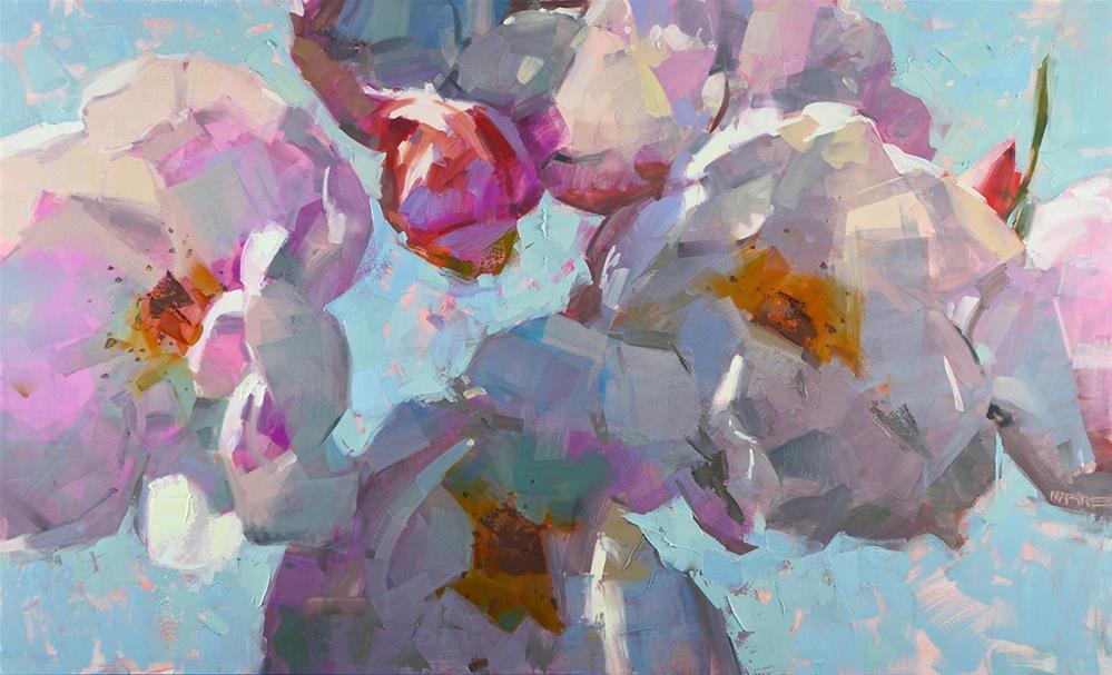 """Rose Balloons"" original fine art by Carol Marine"