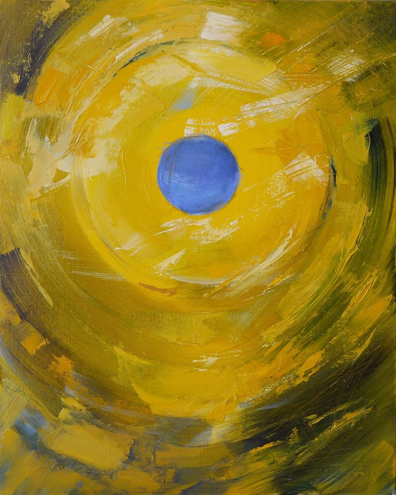 """noon- (sunrise sunset triptych-part2)"" original fine art by Beata Musial-Tomaszewska"