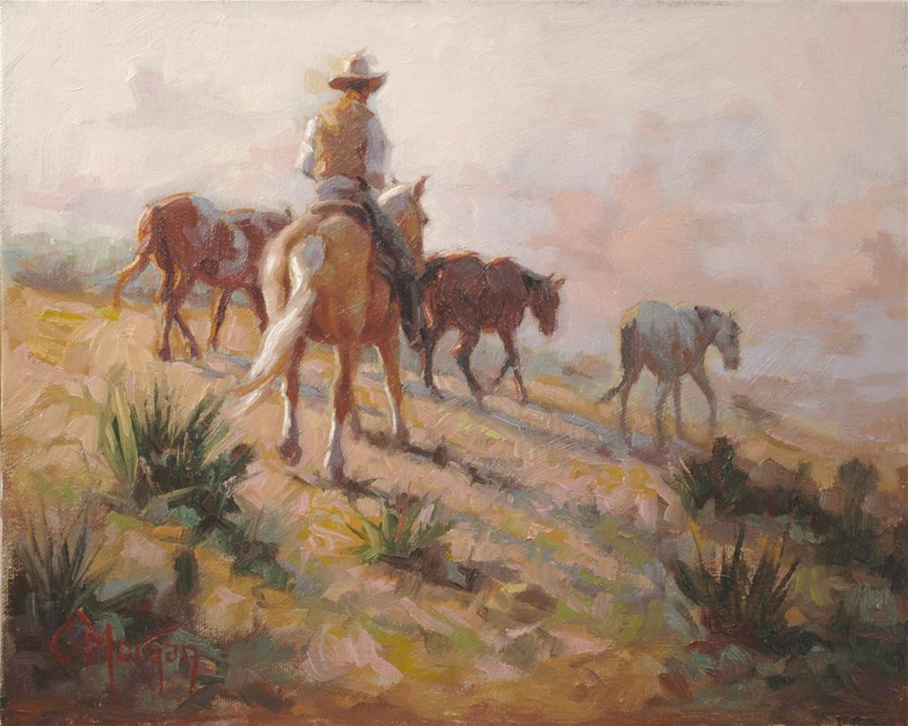 """Wrangler Memories #13"" original fine art by Cecile W. Morgan"