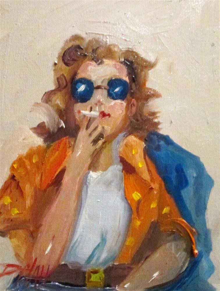 """Sunglasses"" original fine art by Delilah Smith"