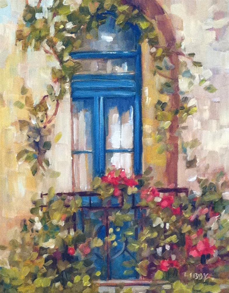 """""""Behind the Curtain"""" original fine art by Libby Anderson"""