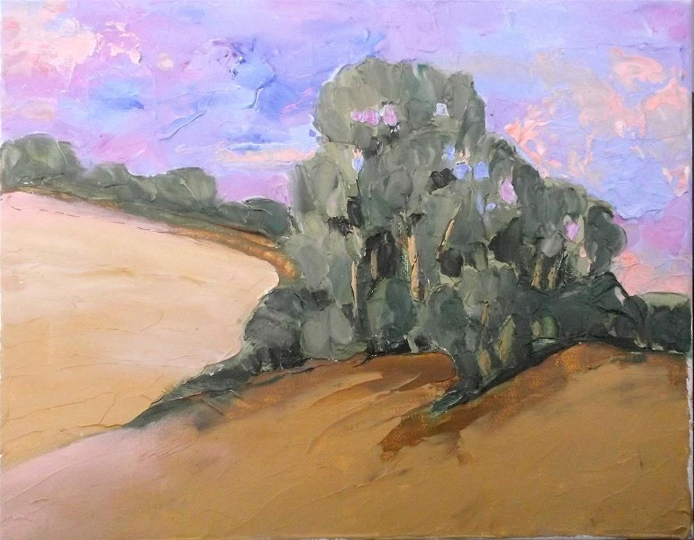 """Paso Robles Hills & Eucalyptus"" original fine art by lynne french"