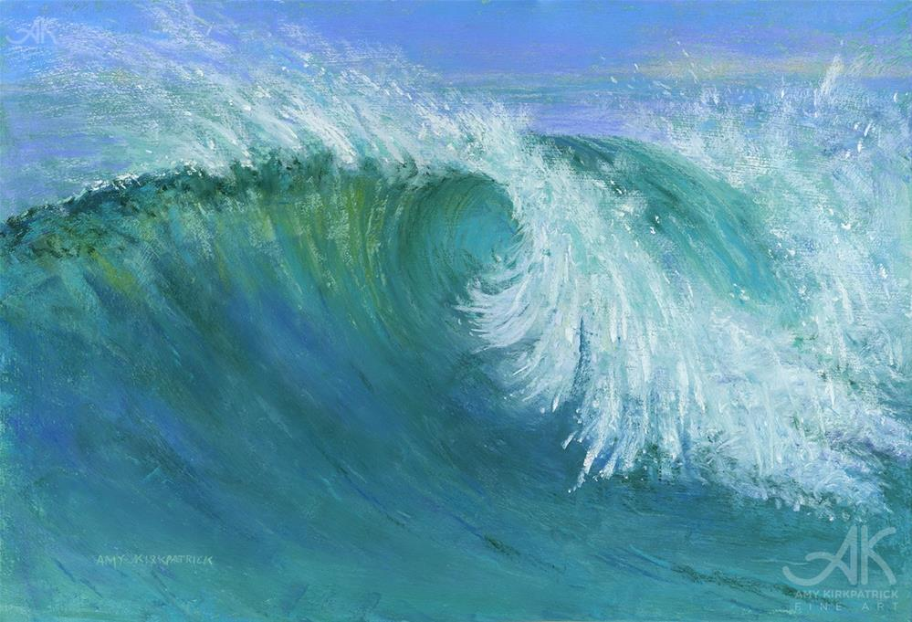 """CURLING WAVE #0758"" original fine art by Amy Kirkpatrick"