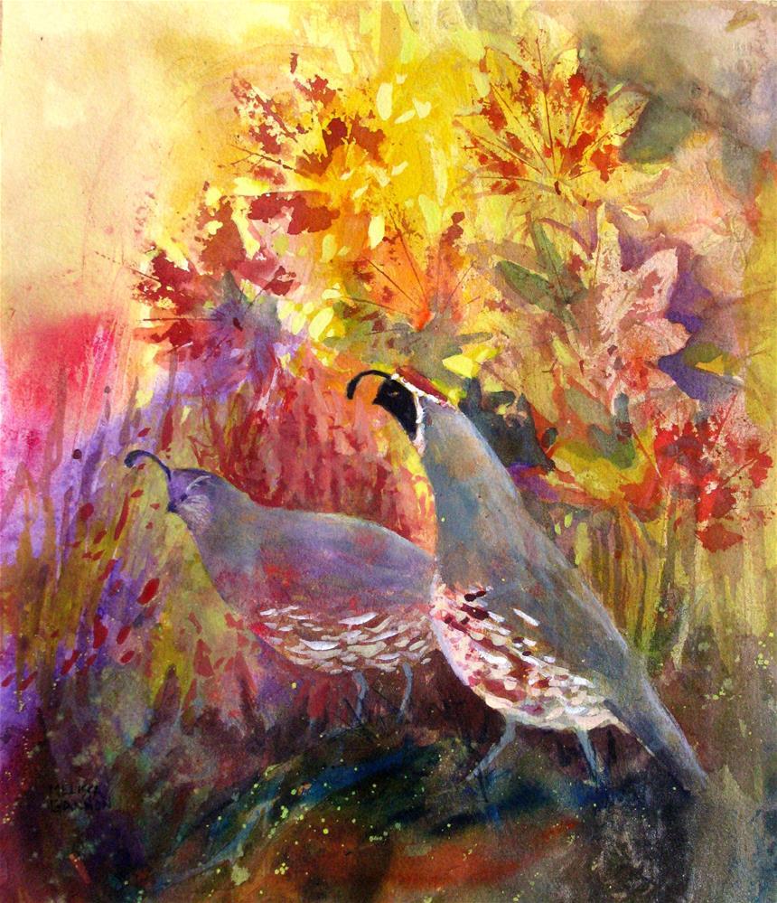 """Autumn Wanter"" original fine art by Melissa Gannon"