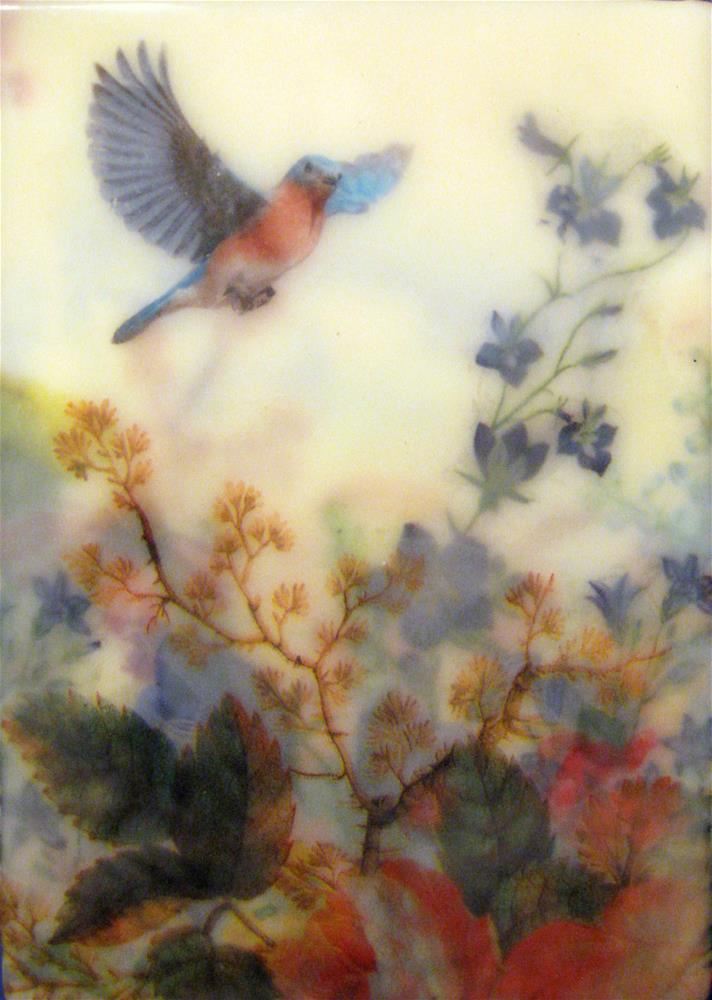 """""""Another Blue Bird"""" original fine art by Danielle M. Le  Bris"""