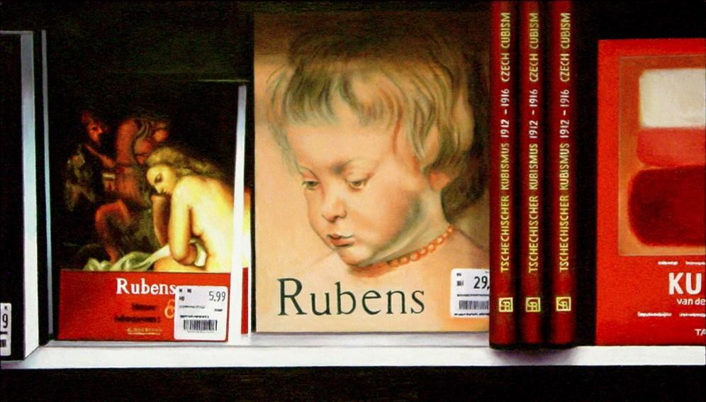 """Rubens Books- Still Life Painting Of Books On Rubens"" original fine art by Gerard Boersma"
