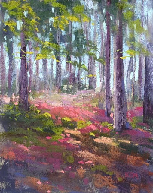 """Meeting the Challenge of Painting a Spring Landscape"" original fine art by Karen Margulis"