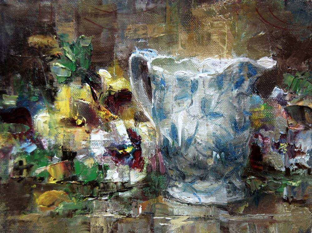 """""""Pansy Time"""" original fine art by Julie Ford Oliver"""