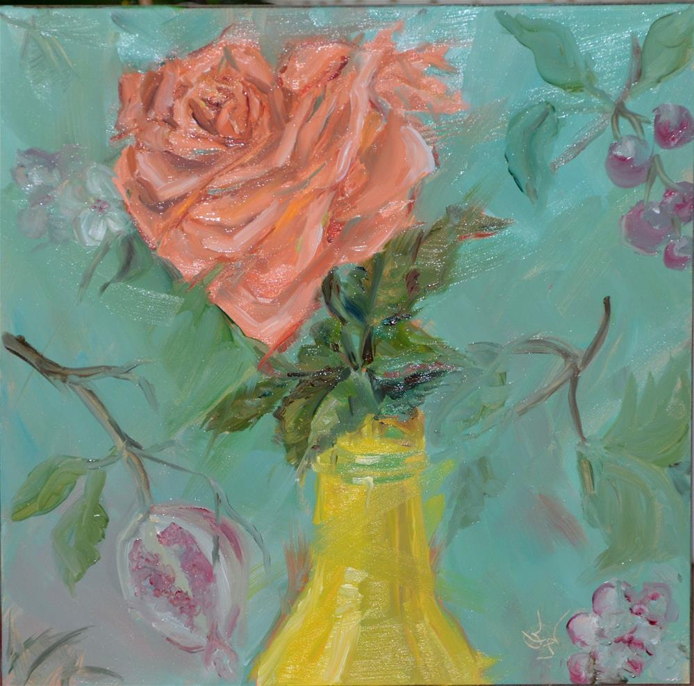 """Yellow Bottle Rides Again"" original fine art by Jan Jackson"