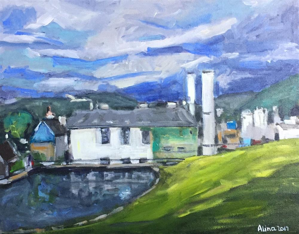 """Glefiddich Distillery"" original fine art by Alina Vidulescu"