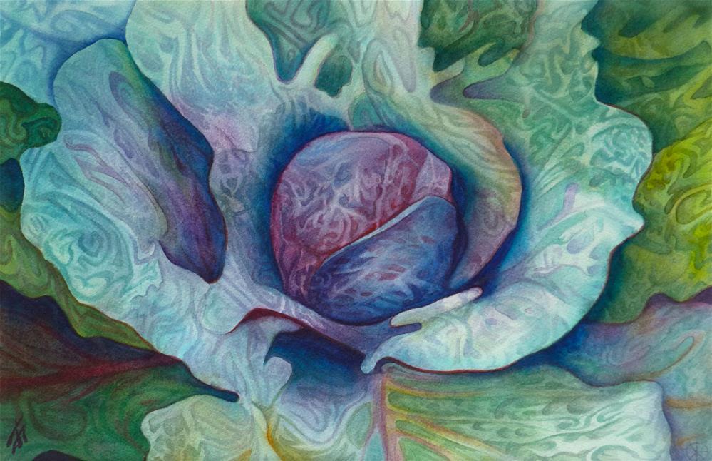 """""""Red Cabbage"""" original fine art by Mark Allison"""