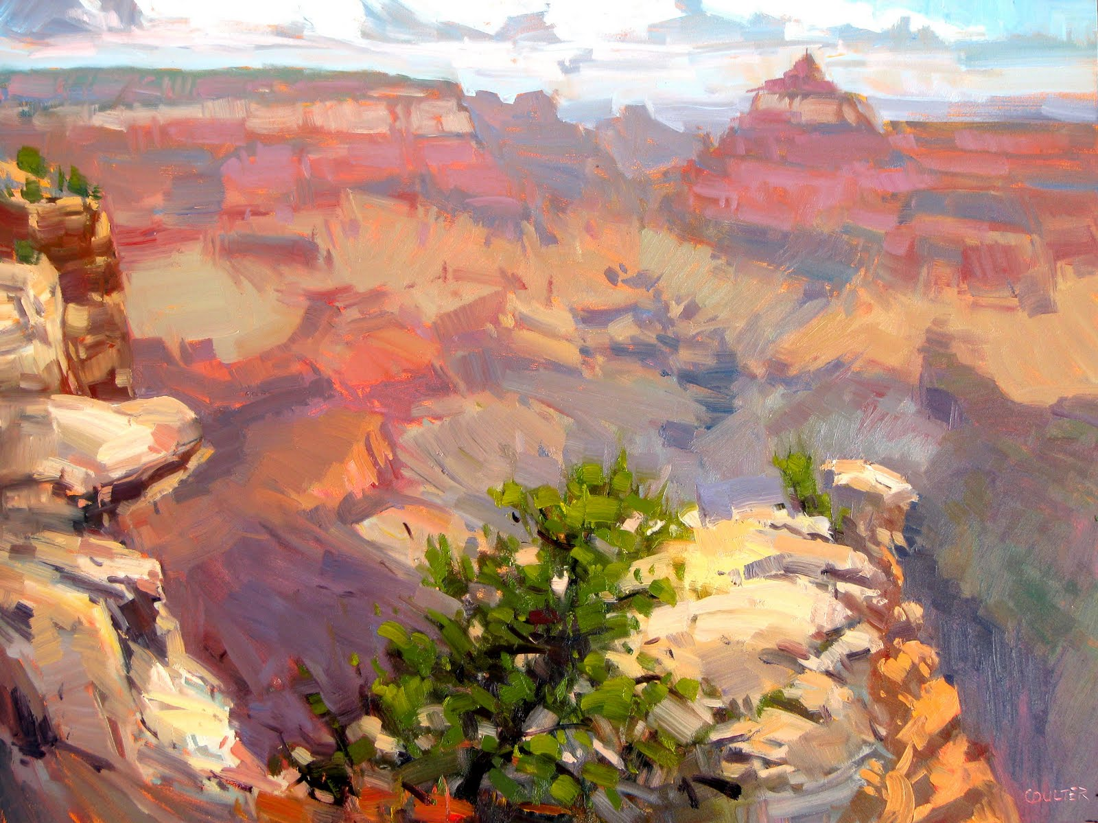 """""""GRAND CANYON at the EDGE"""" original fine art by James Coulter"""