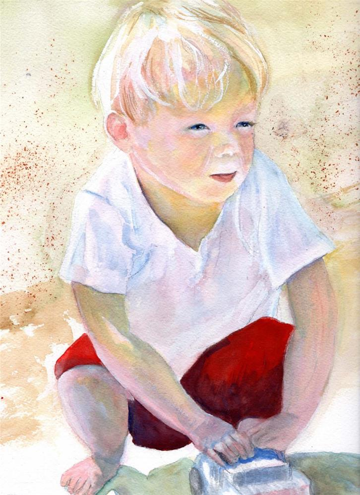 """Sun, Sand and Toy Cars"" original fine art by Bunny Griffeth"