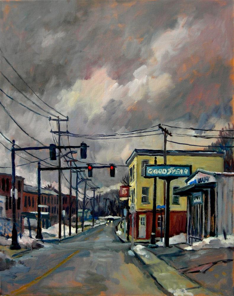 """Goodyear, Snow"" original fine art by Thor Wickstrom"