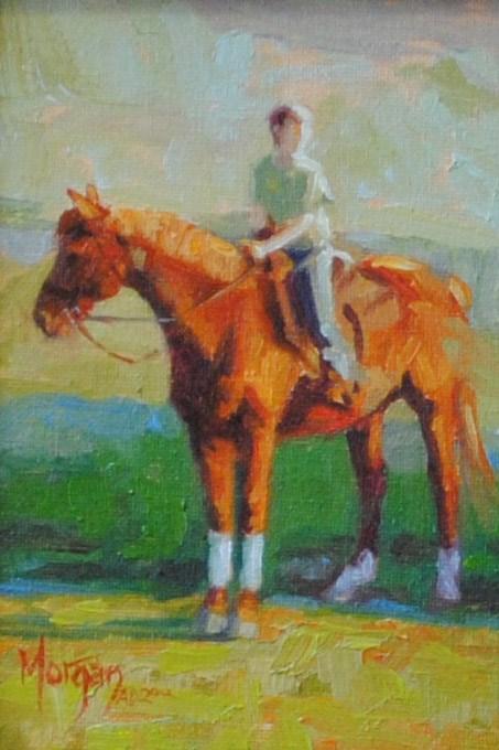 """Frank and Jessie"" original fine art by Cecile W. Morgan"