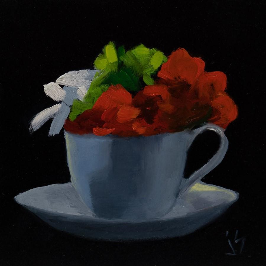 """Cup of Morning Sun 2"" original fine art by Johnna Schelling"