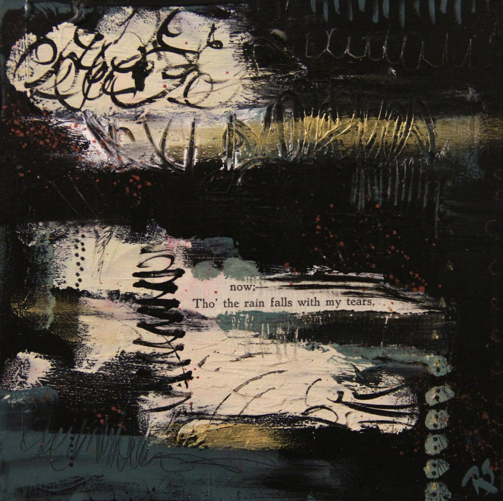 """With My Tears"" original fine art by Roberta Schmidt ArtcyLucy"