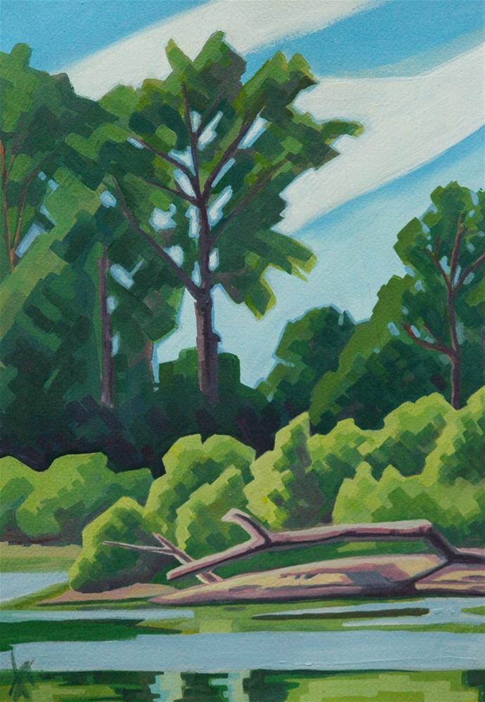 """""""North Willamette Park"""" original fine art by Mark Allison"""