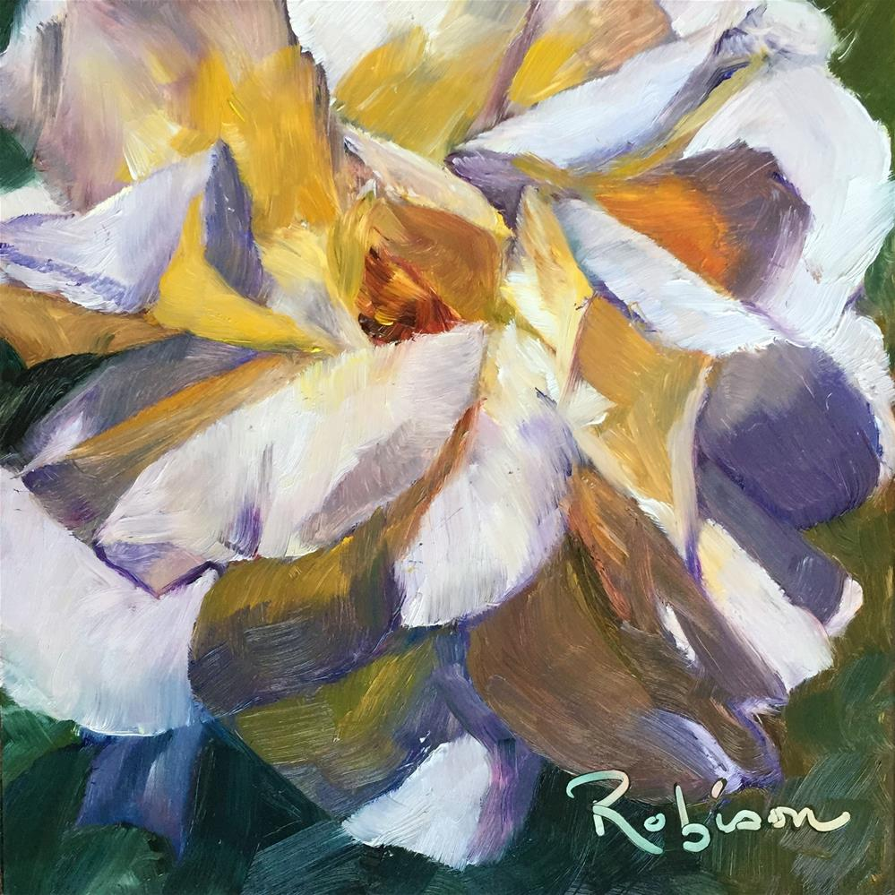 """""""Abstract Rose"""" original fine art by Renee Robison"""
