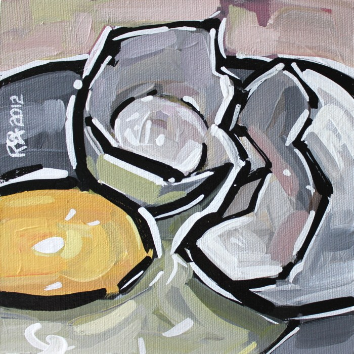 """""""Egg abstraction 2"""" original fine art by Roger Akesson"""