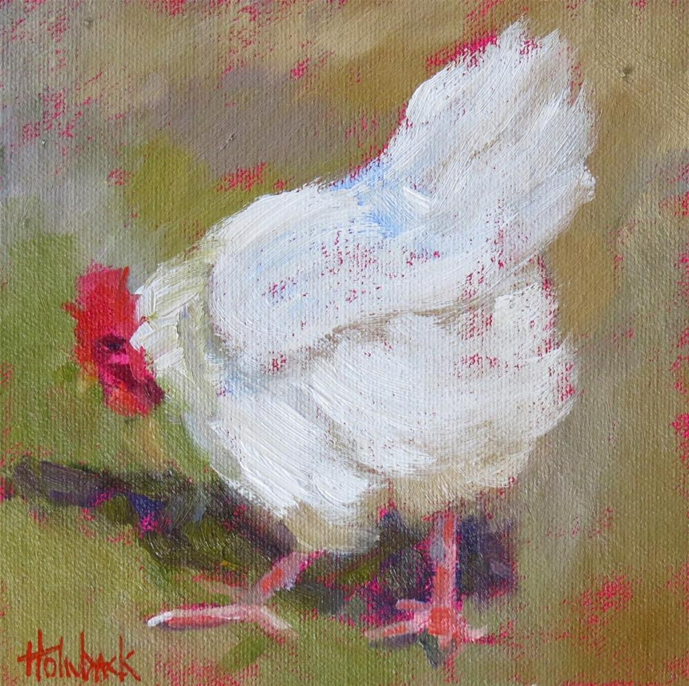 """Slick Chick"" original fine art by Pam Holnback"