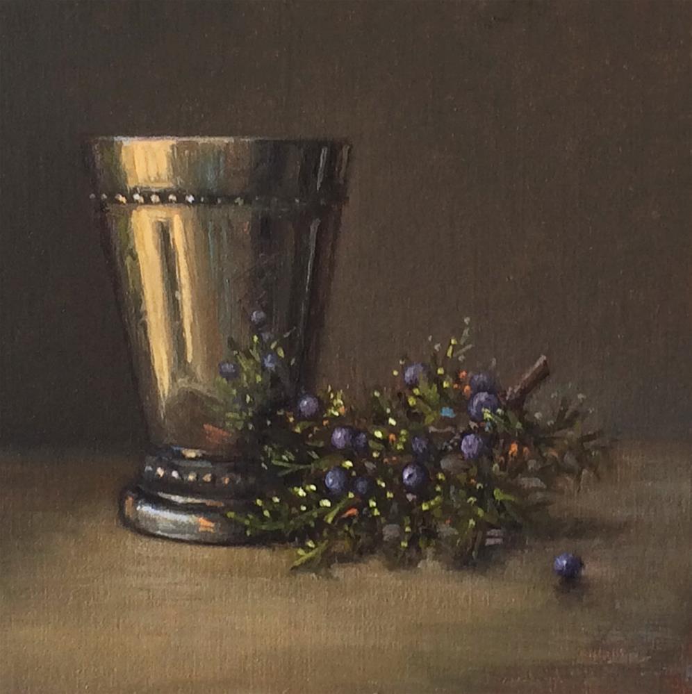 """Abiquiu Light: Silver Cup with Mountain Cedar"" original fine art by Darla McDowell"