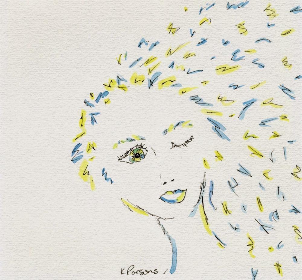 """""""Mind Blown"""" original fine art by Kali Parsons"""