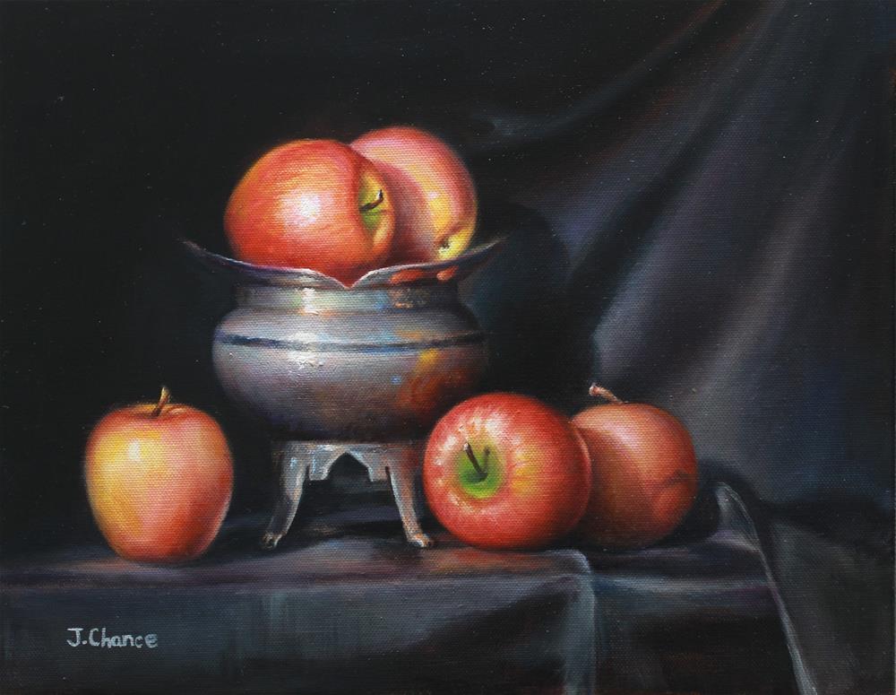"""""""Apple"""" original fine art by Jung Chance"""