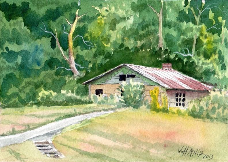 """Abandoned Home, Tullahoma, TN"" original fine art by Jeff Atnip"