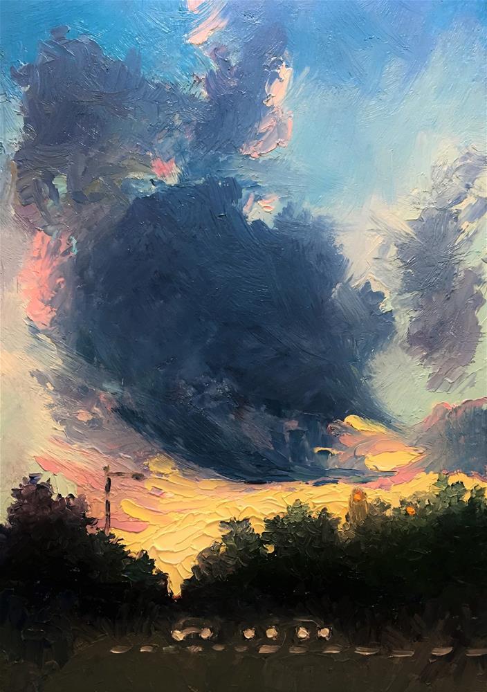 """Kelly Drive at Dusk"" original fine art by Sharon Egan"
