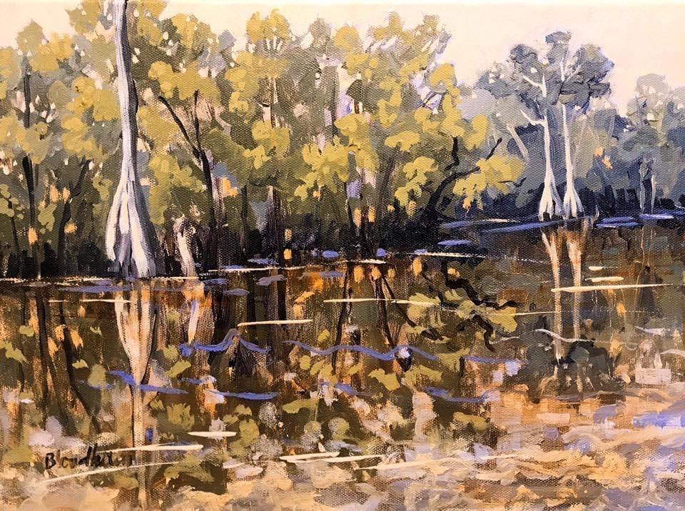 """""""Pond Cypress"""" original fine art by Linda Blondheim"""