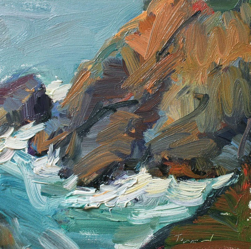 """""""Cape Disappointment"""" original fine art by Kathryn Townsend"""