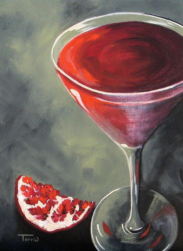 """Pomegranate Martini"" original fine art by Torrie Smiley"