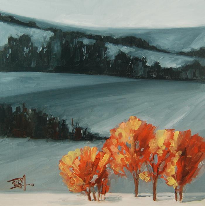 """No 408 Sunlight"" original fine art by Robin J Mitchell"