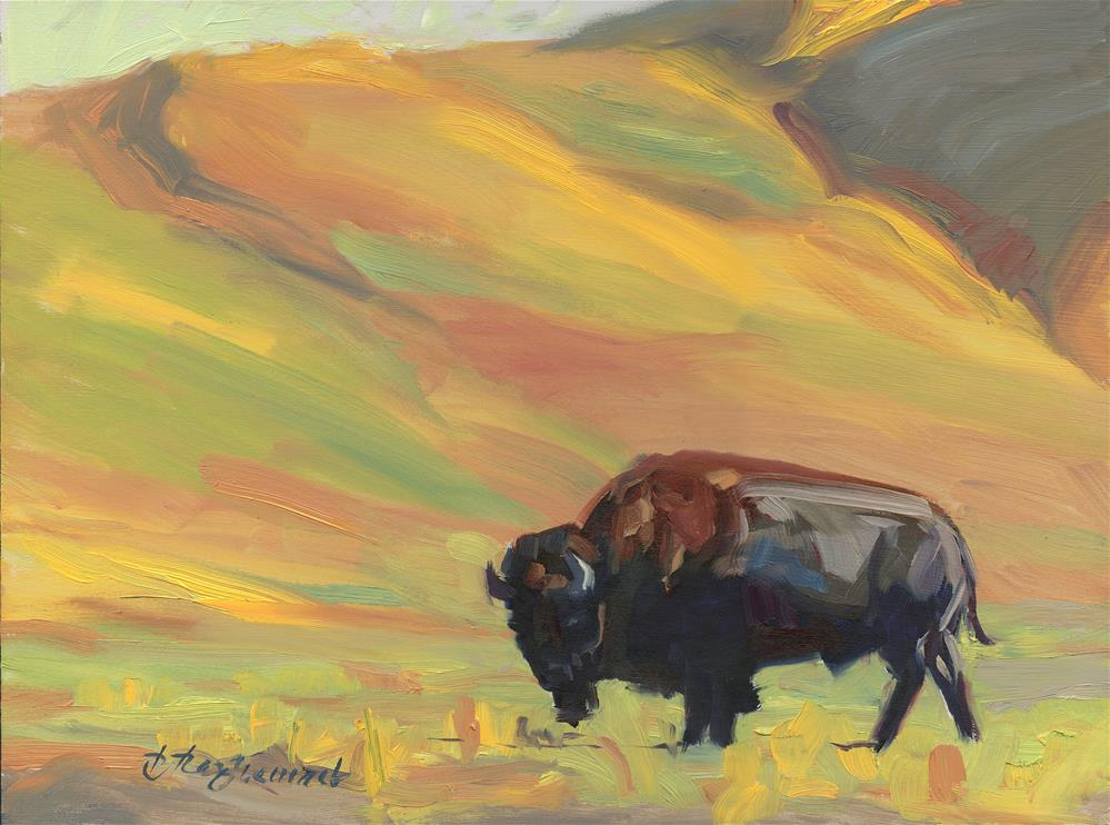 """""""Buffalo"""" original fine art by B. Rex Stewart"""