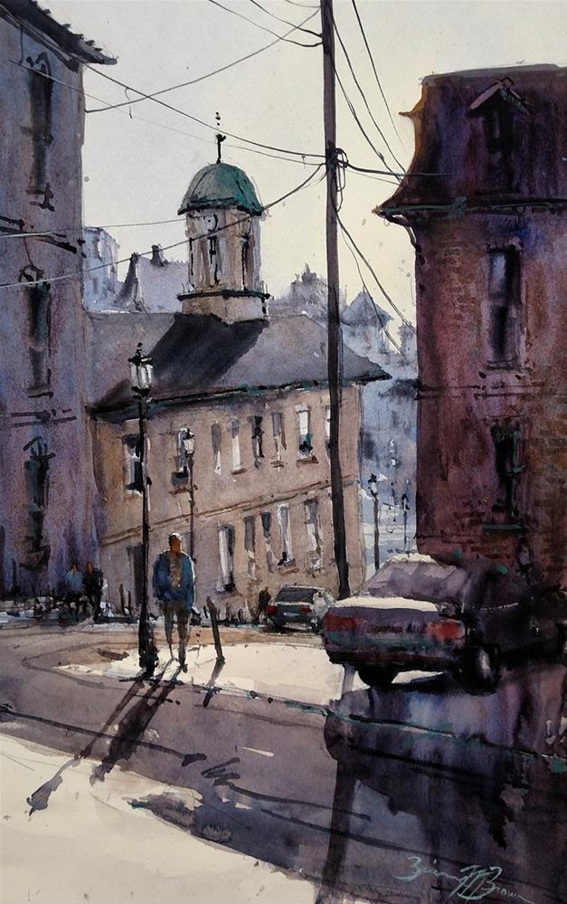 """High Street Stroll"" original fine art by Brienne  Brown"