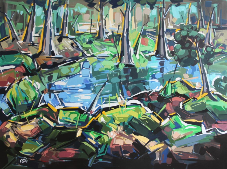 """Landscape Exploration 20"" original fine art by Roger Akesson"